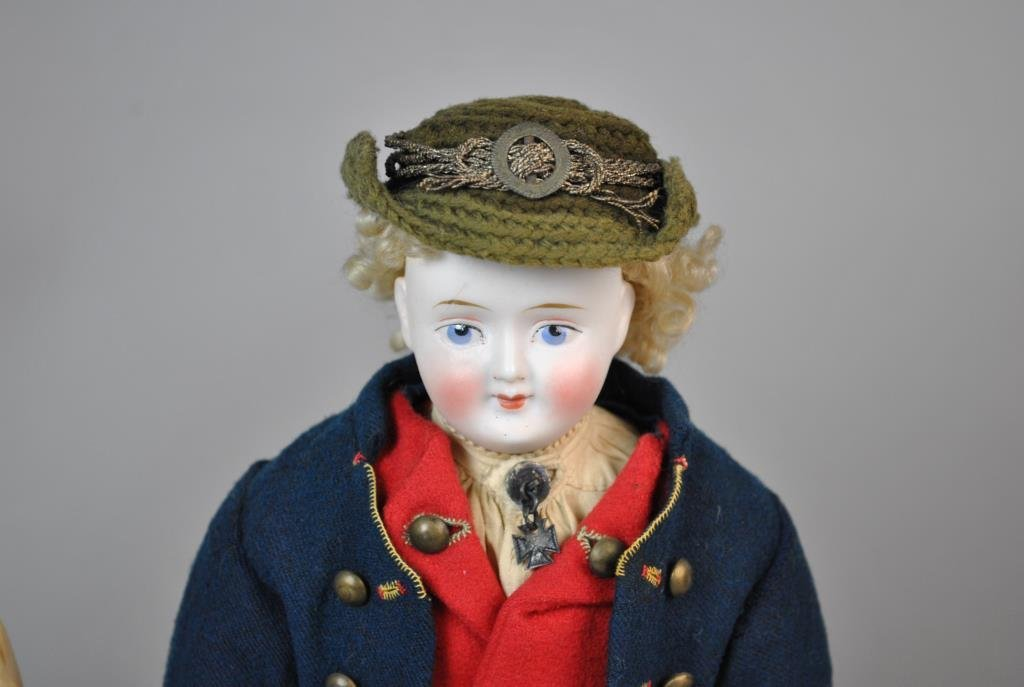 PAIR OF AUSTRIAN BISQUE HEAD DOLLS - 3