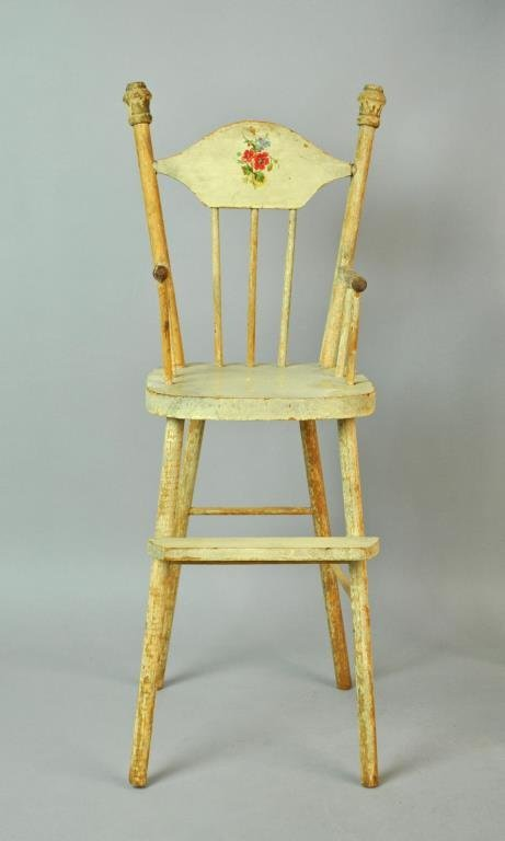 (2) WOODEN DOLL HIGH CHAIRS - 2