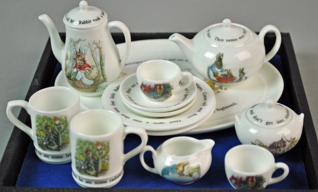 (13) PIECE WEDGWOOD MINIATURE TEA SERVICE