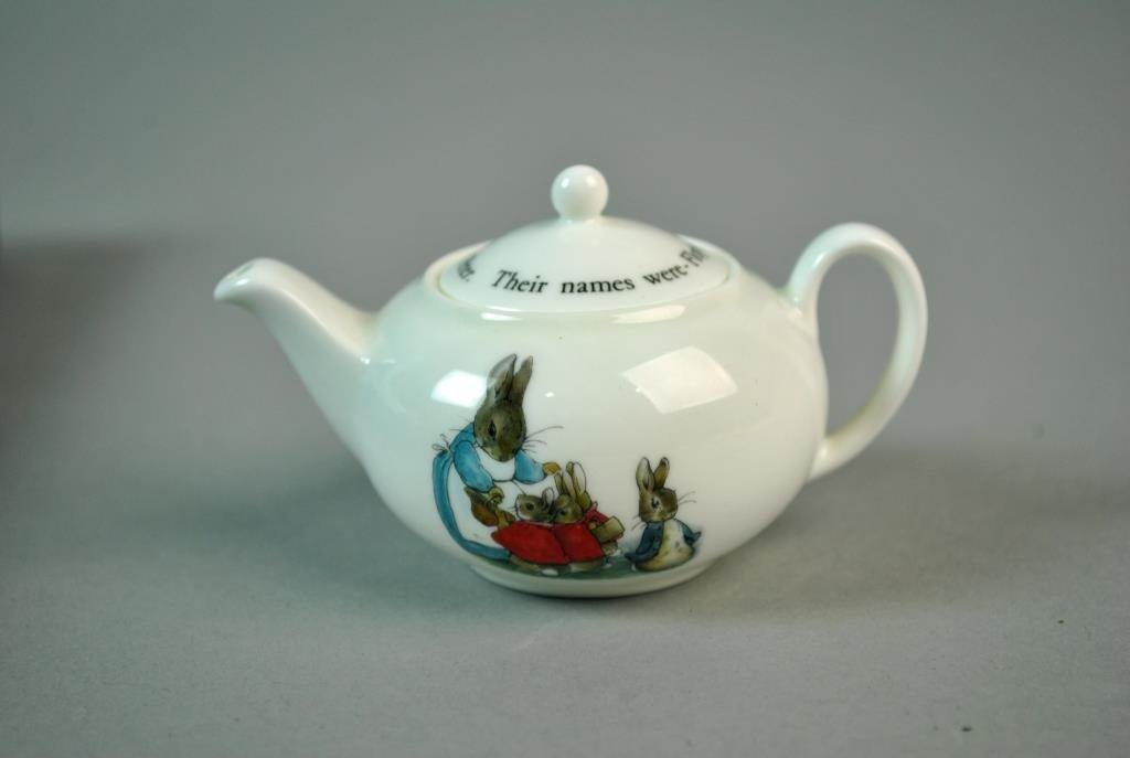 (13) PIECE WEDGWOOD MINIATURE TEA SERVICE - 2