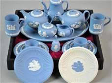 (17) PIECE WEDGWOOD MINIATURE TEA SERVICE