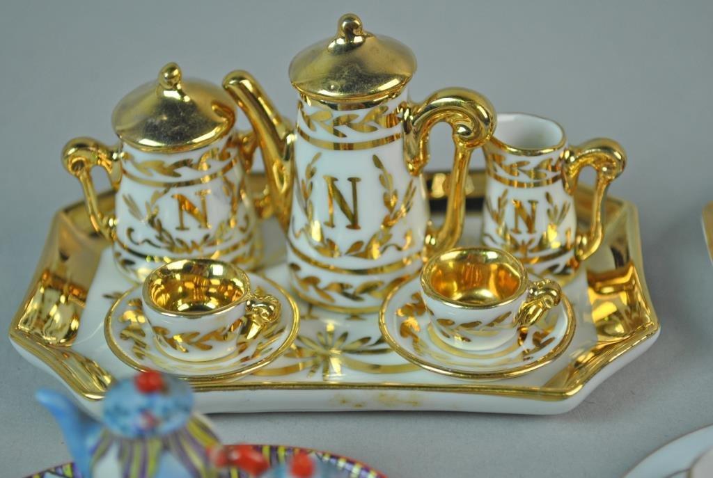 (4) MINIATURE DOLLHOUSE PORCELAIN TEA SETS - 2