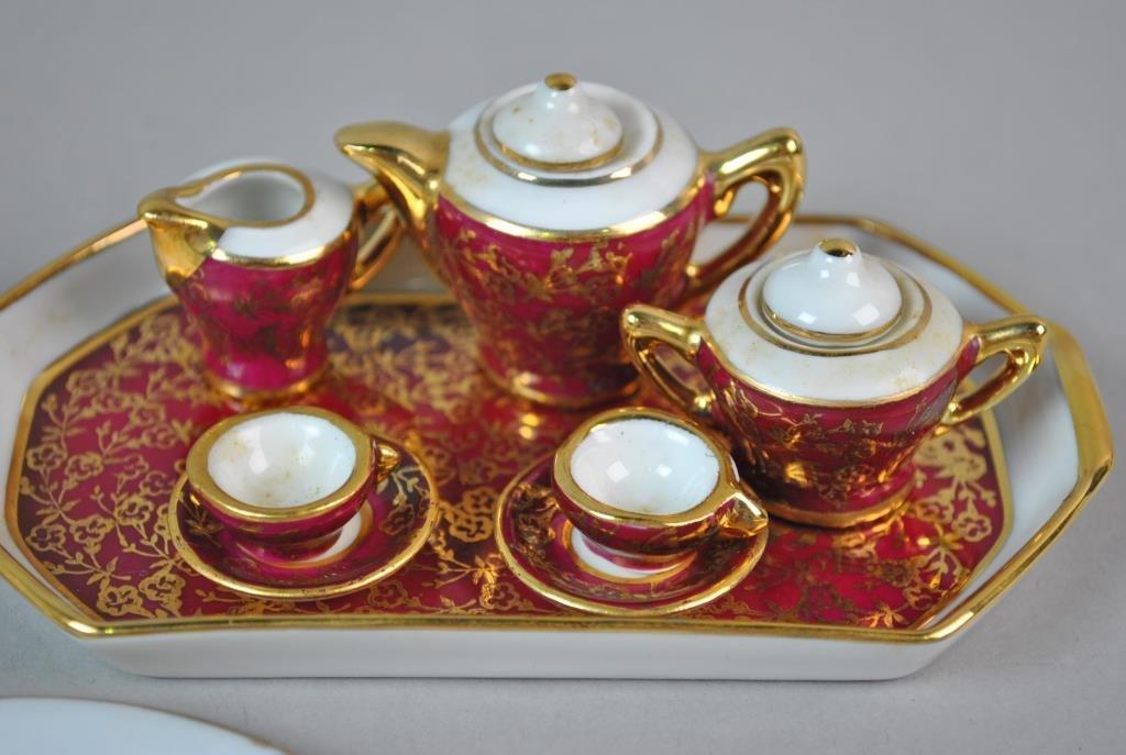(4) MINIATURE DOLLHOUSE PORCELAIN TEA SETS - 3