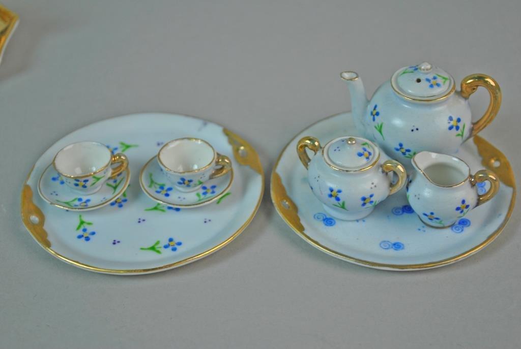 (4) MINIATURE DOLLHOUSE PORCELAIN TEA SETS - 5