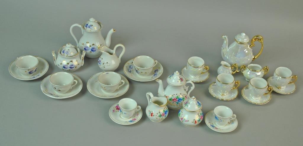 (3) PORCELAIN CHILD'S TEA SETS