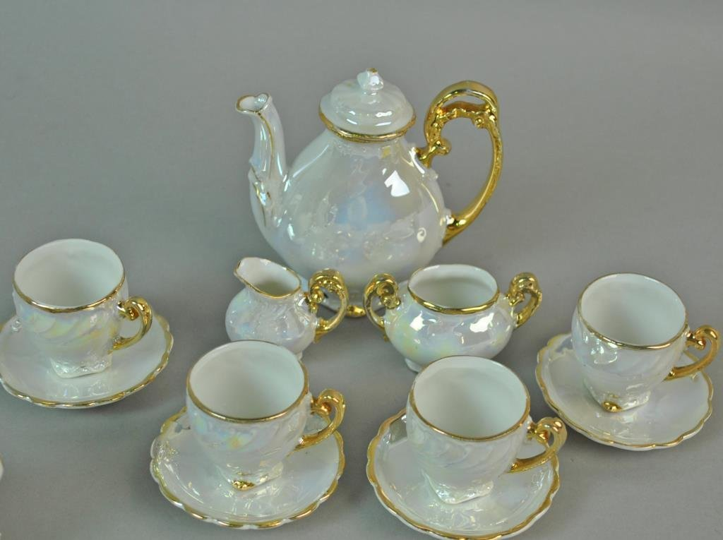 (3) PORCELAIN CHILD'S TEA SETS - 3