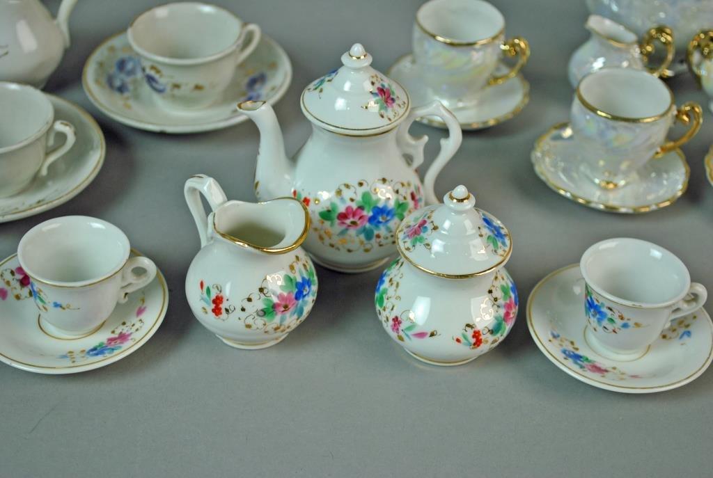(3) PORCELAIN CHILD'S TEA SETS - 4