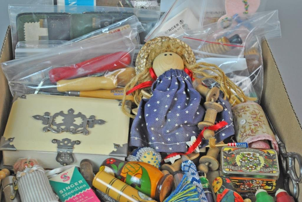 LARGE GROUP OF SEWING COLLECTIBLES - 2