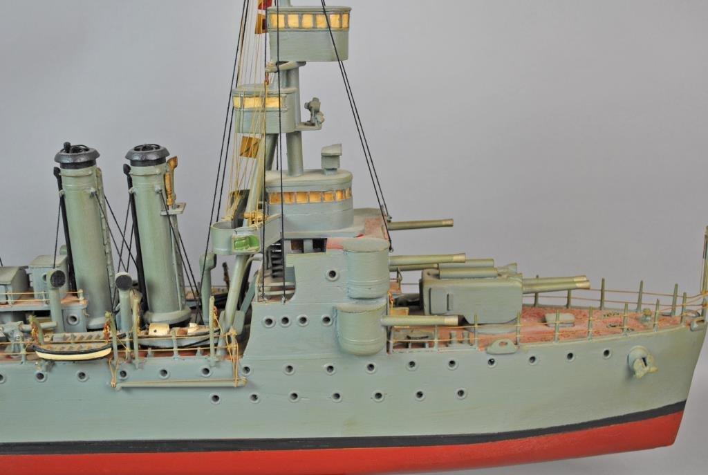 PAINTED WOOD SCALE MODEL USS CINCINNATI - 2