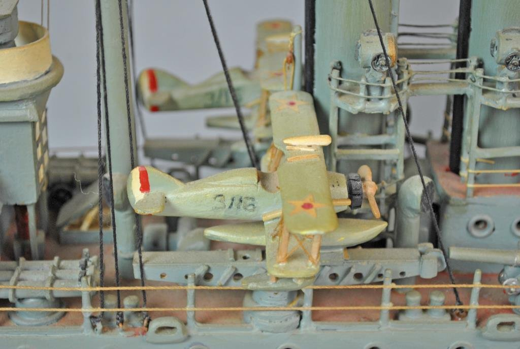 PAINTED WOOD SCALE MODEL USS CINCINNATI - 3