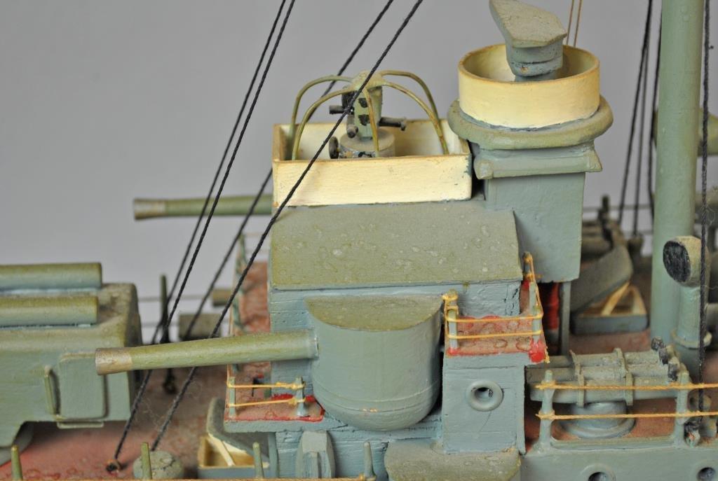 PAINTED WOOD SCALE MODEL USS CINCINNATI - 4