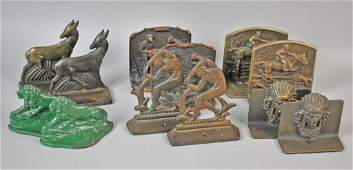 6 PAIRS OF VINTAGE BOOKENDS