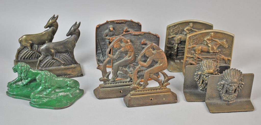 (6) PAIRS OF VINTAGE BOOKENDS