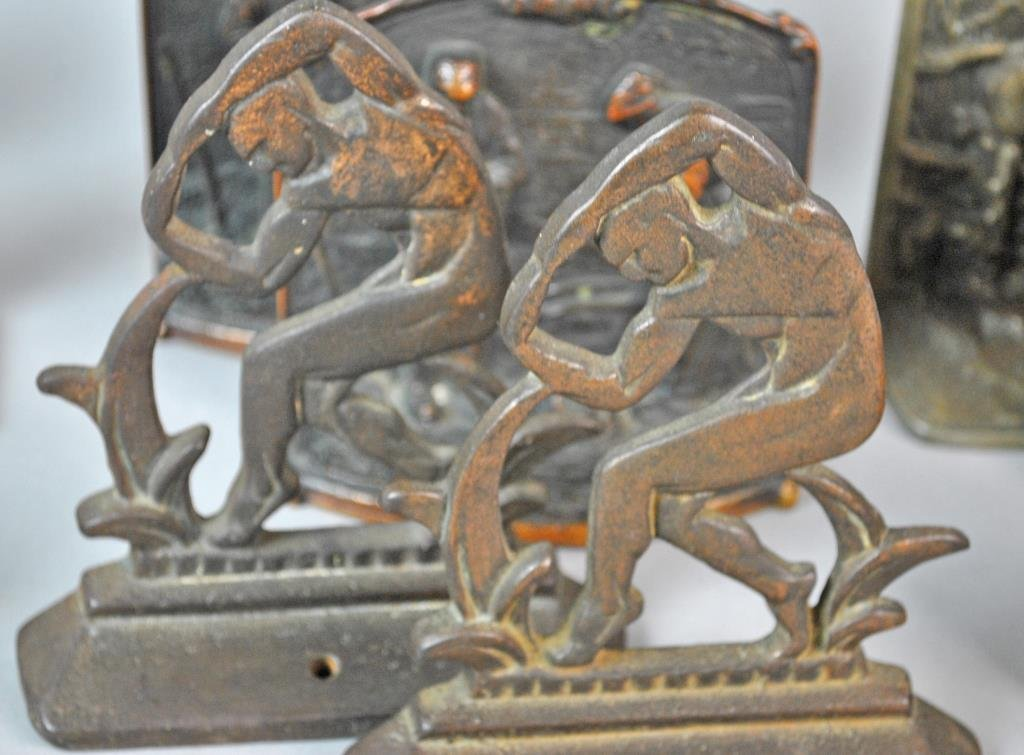 (6) PAIRS OF VINTAGE BOOKENDS - 4
