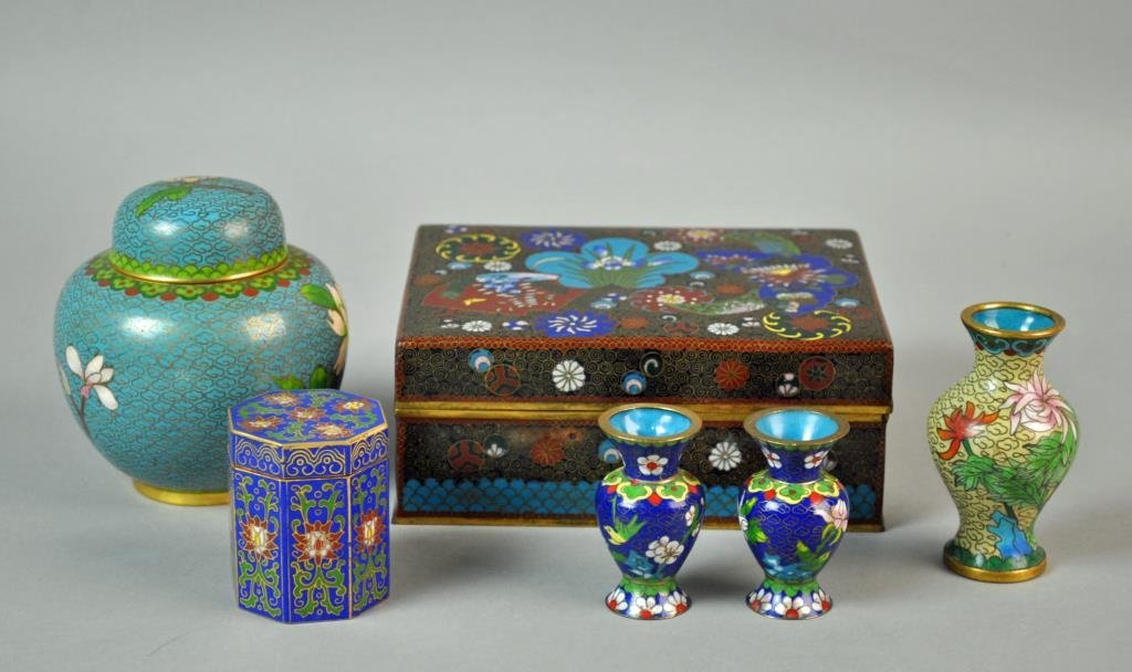 (6) PIECE CHINESE CLOISONNE GROUP
