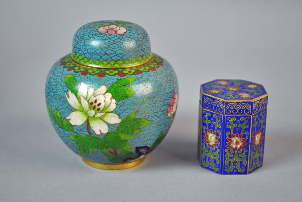 (6) PIECE CHINESE CLOISONNE GROUP - 3
