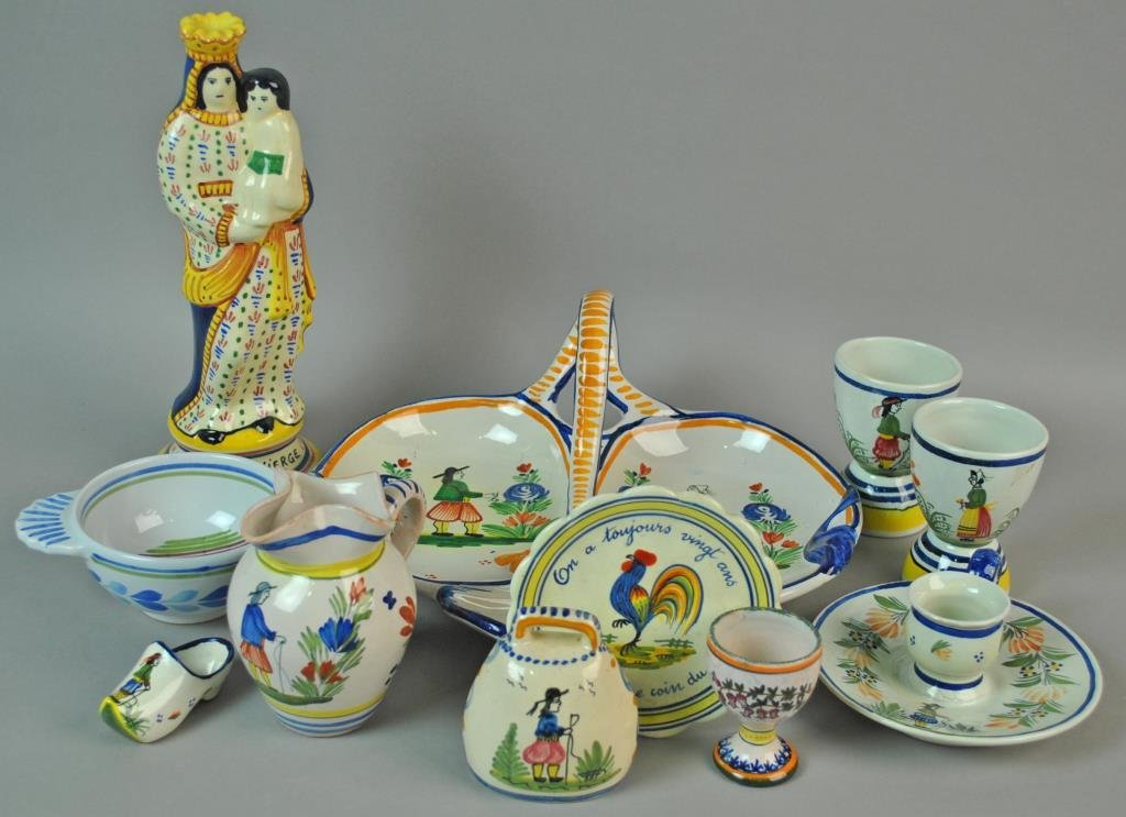 (11) PIECE QUIMPER FRENCH POTTERY GROUP