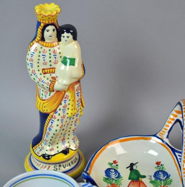 (11) PIECE QUIMPER FRENCH POTTERY GROUP - 2