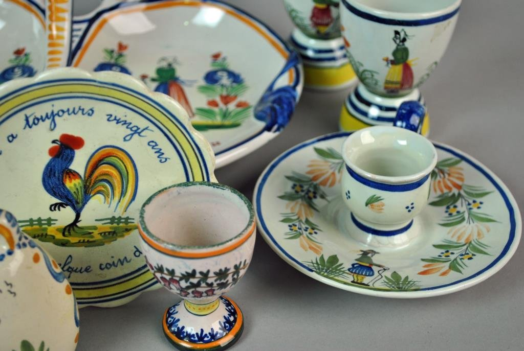 (11) PIECE QUIMPER FRENCH POTTERY GROUP - 4
