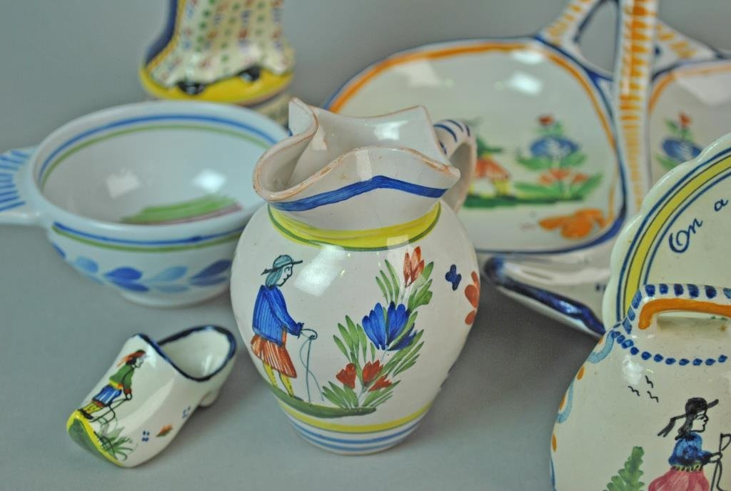 (11) PIECE QUIMPER FRENCH POTTERY GROUP - 5