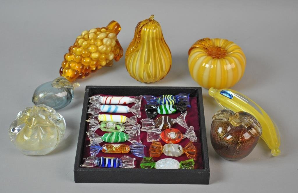 (20) MURANO GLASS FRUITS & CANDIES