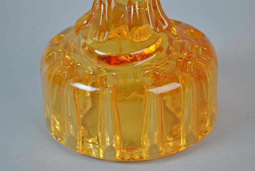 CAMBRIDGE GLASS AMBER FIGURAL FROG - 2