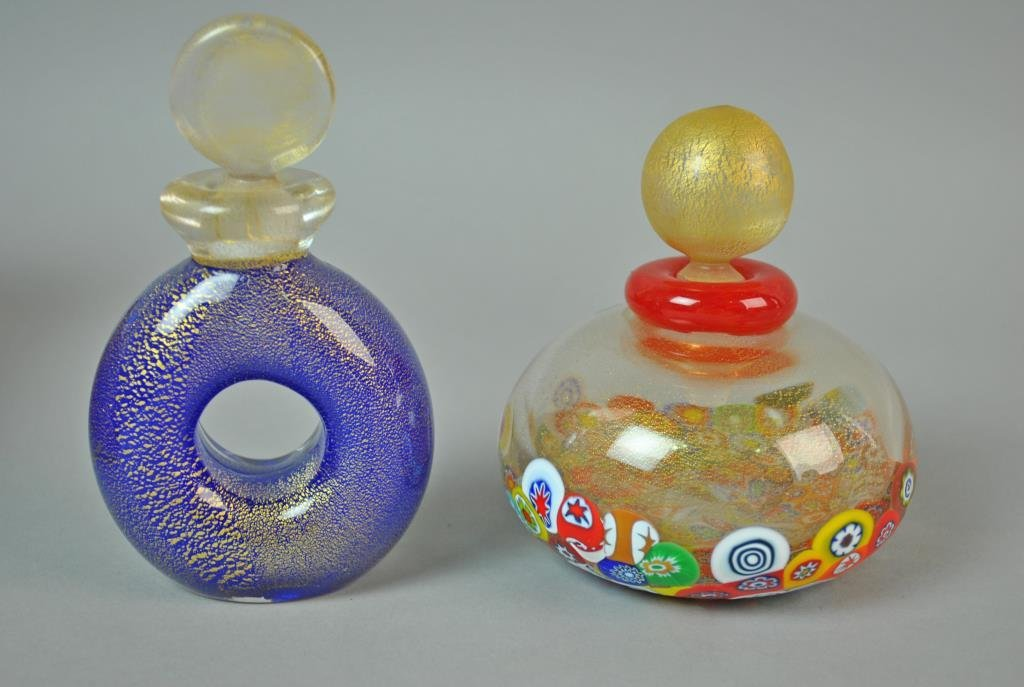 (9) COLLECTIBLE GLASS PERFUME BOTTLES - 3