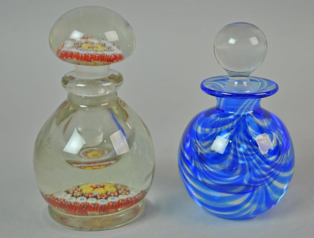 (9) COLLECTIBLE GLASS PERFUME BOTTLES - 4