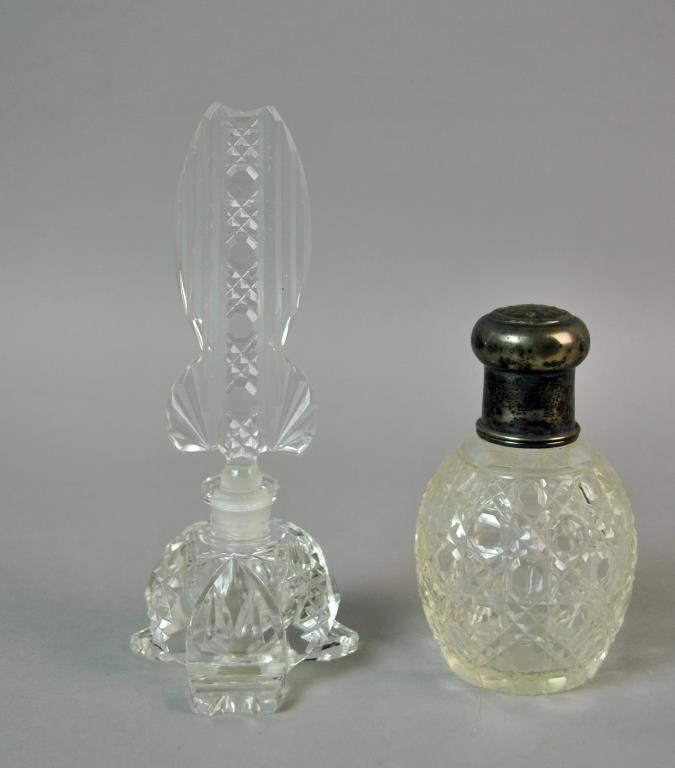 (9) COLLECTIBLE GLASS PERFUME BOTTLES - 5