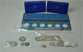 LARGE ESTATE GROUP OF US SILVER COINS & MEDALS