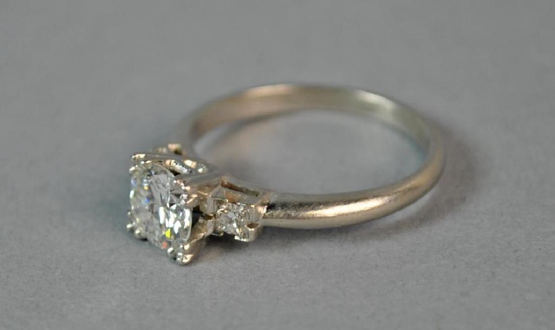 PLATINUM & DIAMOND ENGAGEMENT RING, 1.00CT