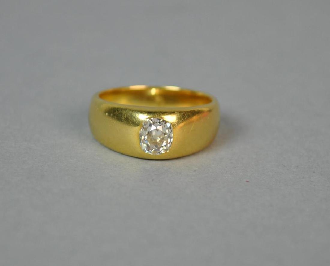 18K FRENCH DIAMOND RING - 2