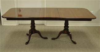ETHAN ALLEN DINING TABLE WITH AS-IS SURFACE