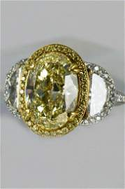 BEAUDRY PLATINUM AND 18K YELLOW GOLD FULL CUT DIAMOND