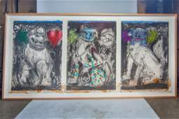 Jim Dine. These Three Dogs Are for Nina D. 1990.