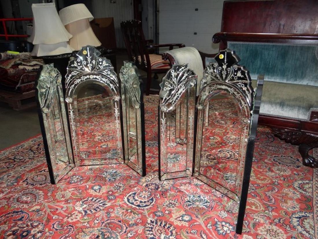Pair Venetian Glass Mirrors