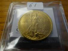 U.S. Gold: 1908 No Motto $20.00, Uncirculated