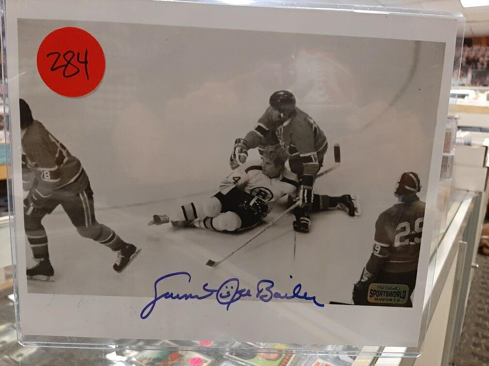 "Garnet 'Ace Bailey' Autographed 8"" x 10"" Photo. Former"