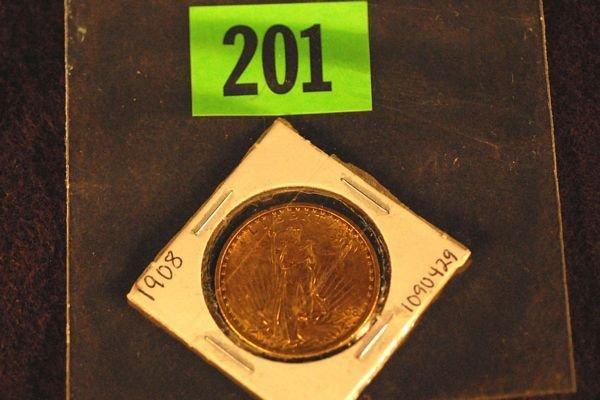 "201: U.S. Saint-Gauden's $20 ""Double Eagle"" Gold Coin 1"