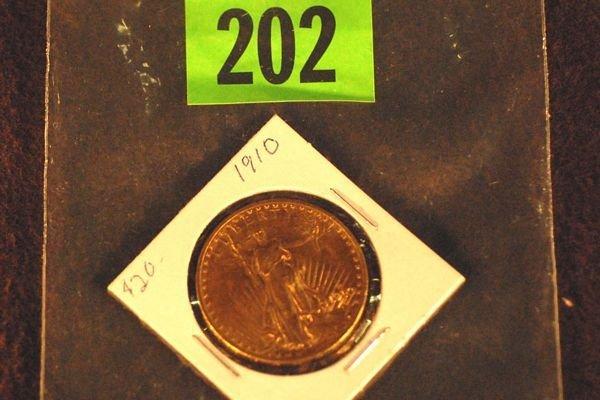 "202: U.S. Saint-Gauden's $20 ""Double Eagle"" Gold Coin 1"
