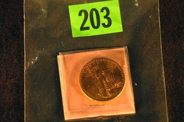 "203: U.S. Saint-Gauden's $20 ""Double Eagle"" Gold Coin 1"