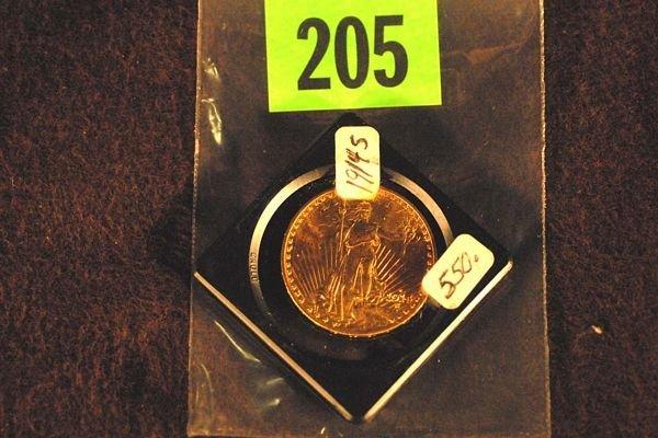 "205: U.S. Saint-Gauden's $20 ""Double Eagle"" Gold Coin 1"