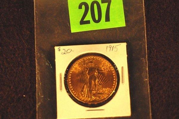 "207: U.S. Saint-Gauden's $20 ""Double Eagle"" Gold Coin 1"