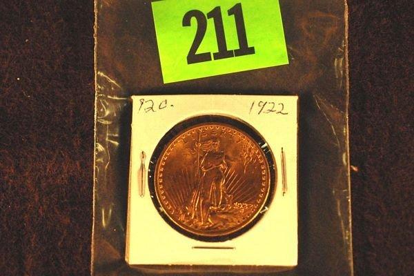 "211: U.S. Saint-Gauden's $20 ""Double Eagle"" Gold Coin 1"