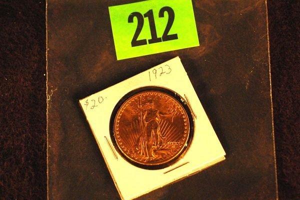 "212: U.S. Saint-Gauden's $20 ""Double Eagle"" Gold Coin 1"
