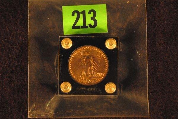 "213: U.S. Saint-Gauden's $20 ""Double Eagle"" Gold Coin 1"