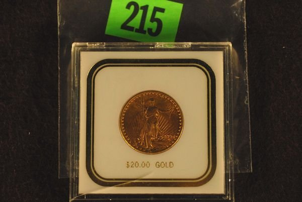 "215: U.S. Saint-Gauden's $20 ""Double Eagle"" Gold Coin 1"