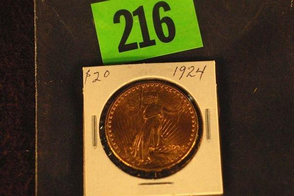 "216: U.S. Saint-Gauden's $20 ""Double Eagle"" Gold Coin 1"