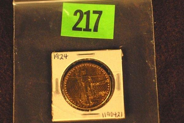 "217: U.S. Saint-Gauden's $20 ""Double Eagle"" Gold Coin 1"