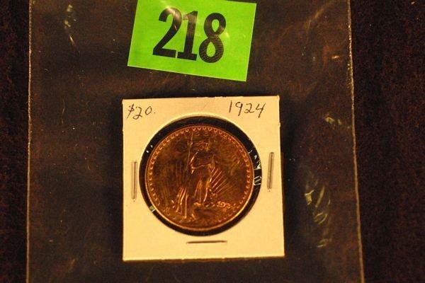 "218: U.S. Saint-Gauden's $20 ""Double Eagle"" Gold Coin 1"
